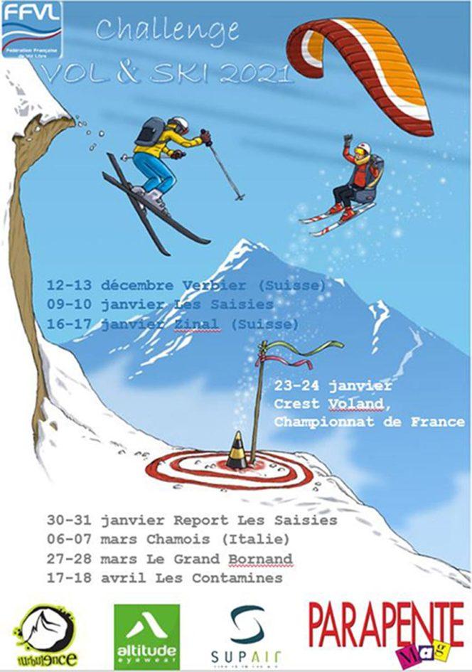 Vol et ski calendar 2021