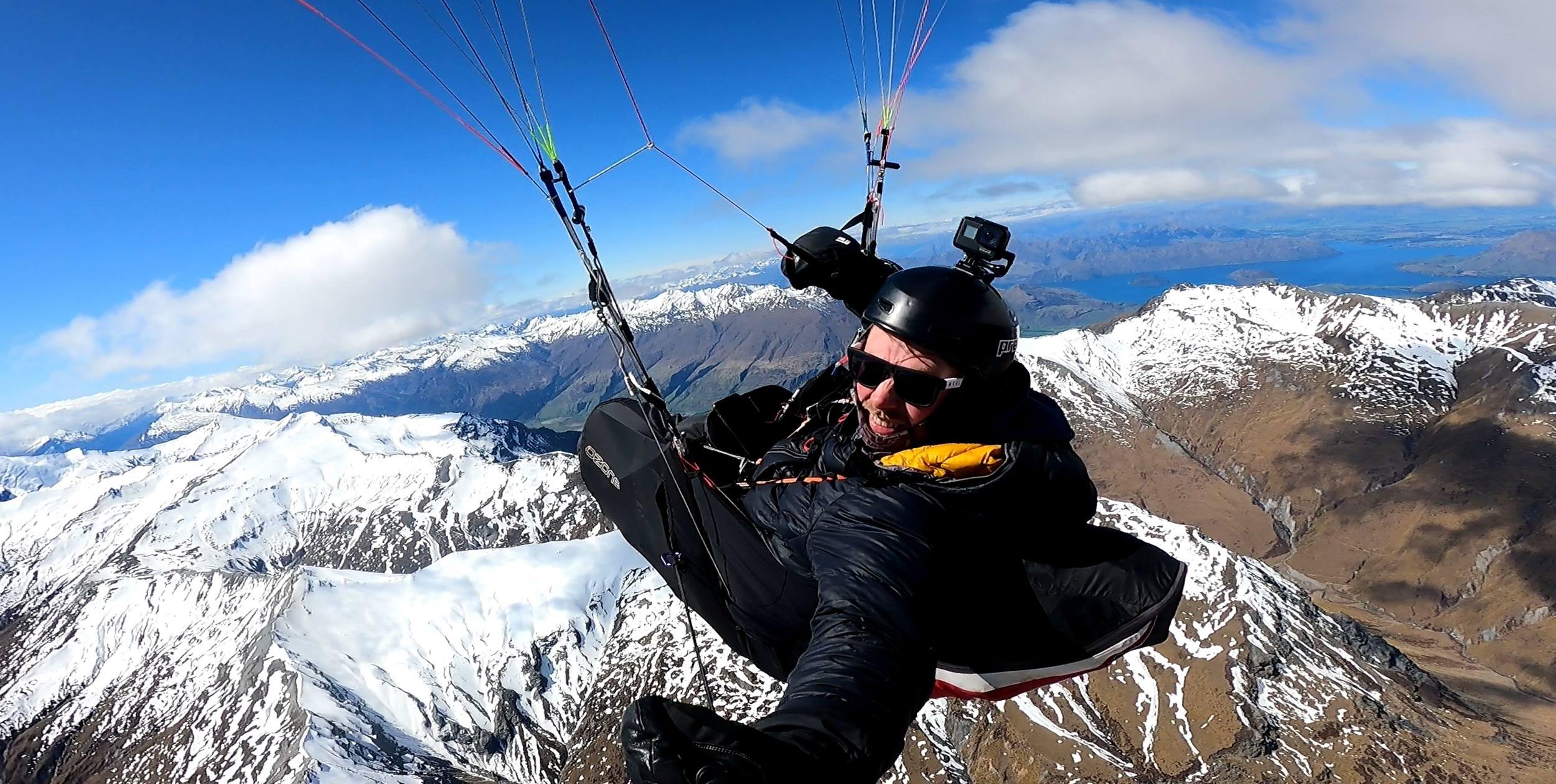 Ben Kellett, Flying up the Harris, New Zealand