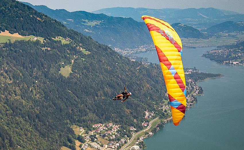How to get into acro paragliding. Photo: Marcus King