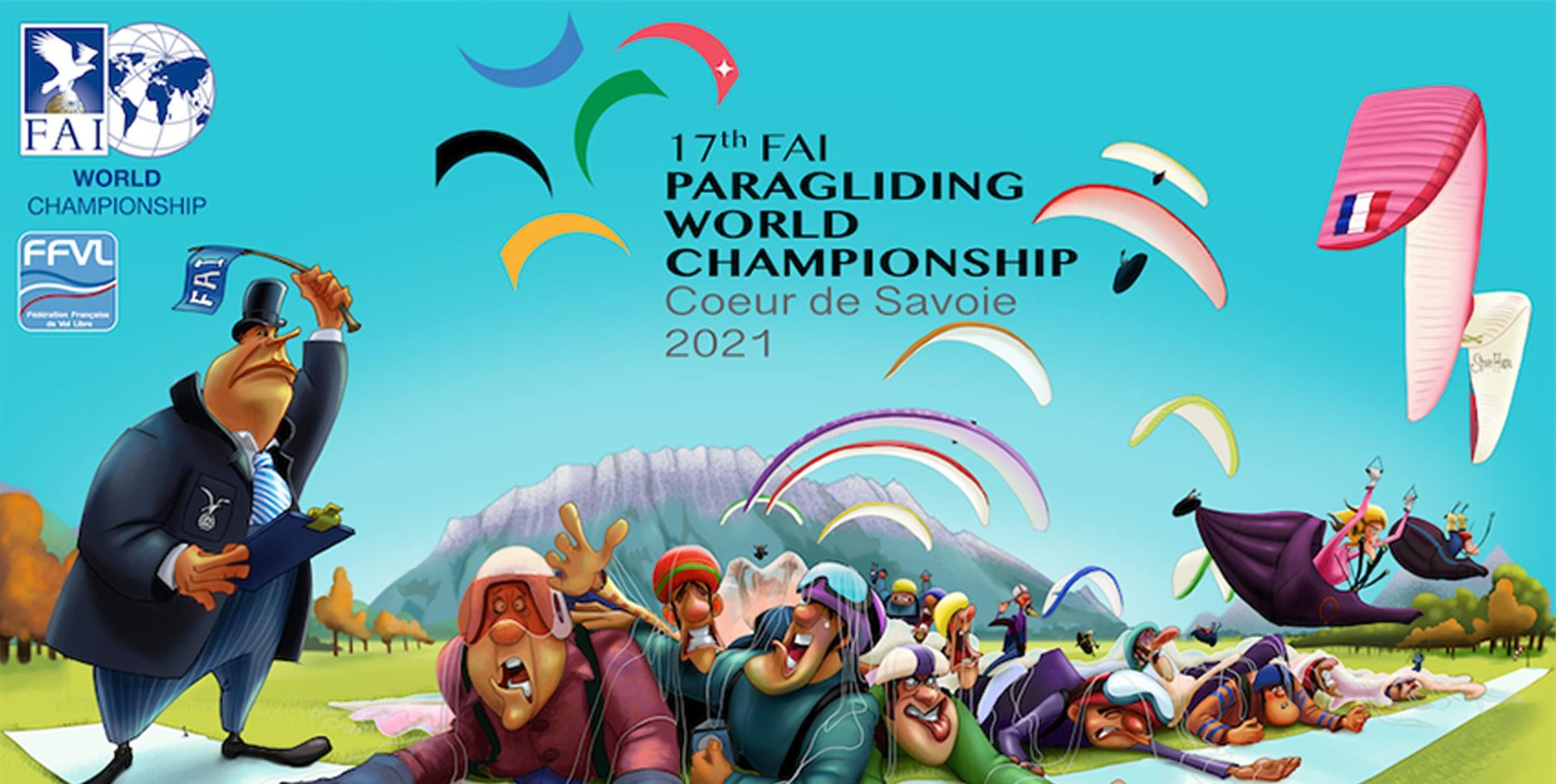 Paragliding World Championships 2021 poster Hero