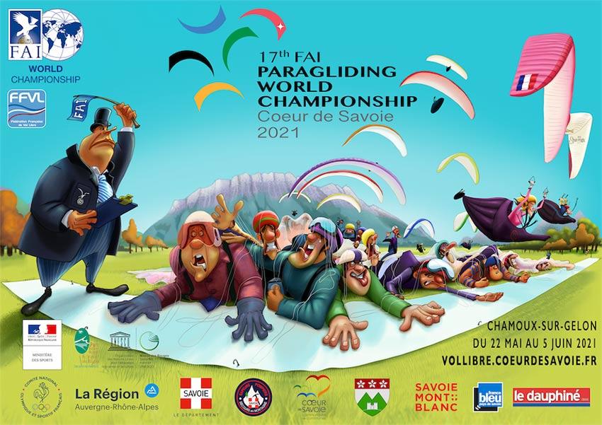 Paragliding World Championships 2021 poster