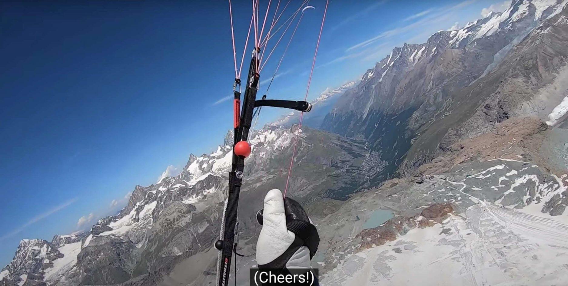 vol bivouac flight in the Alps