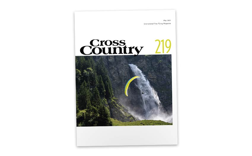 Cover of Cross Country 219. Photo: Andi Busslinger