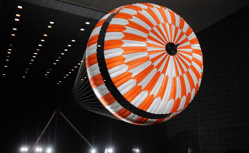 Nasa's Mars parachute by Heathcote Fabrics