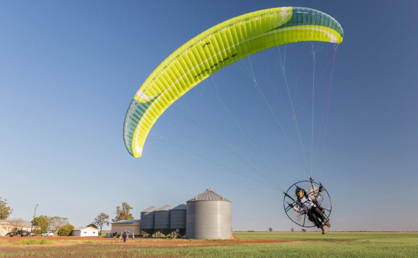 Paramotoring in Australia. Photo: Tex Beck