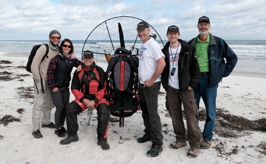 Coast to coast in eight days by paramotor, with Harley Milne