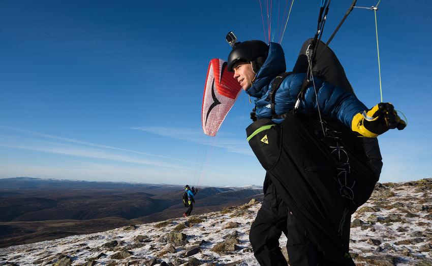 Paragliding in Scotland. Photo: Kieran Campbell