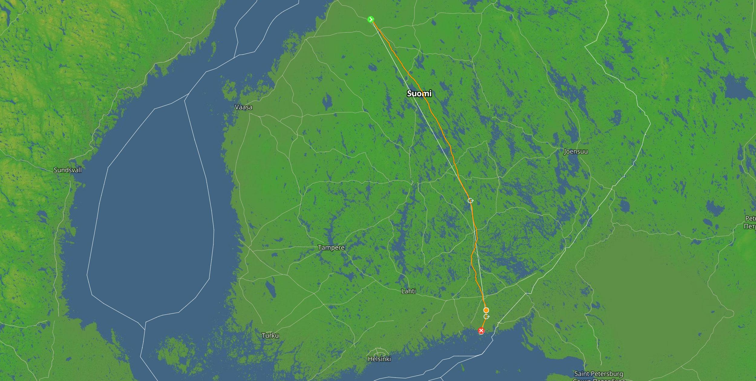 Jouni Makkonen 400km across Finland