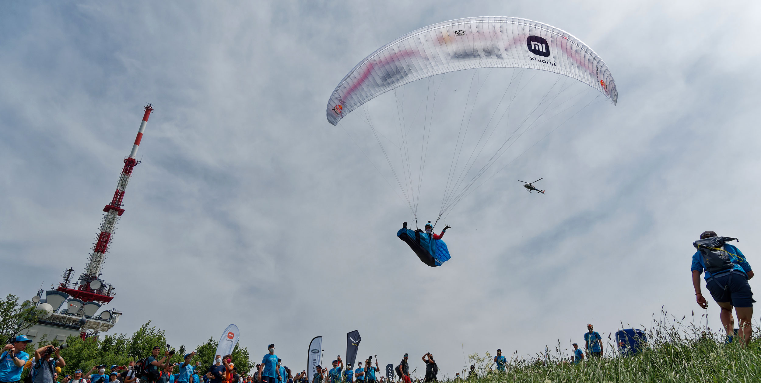 Launching from the Gaisberg on Day 1 of the Red Bull X-Alps 2021