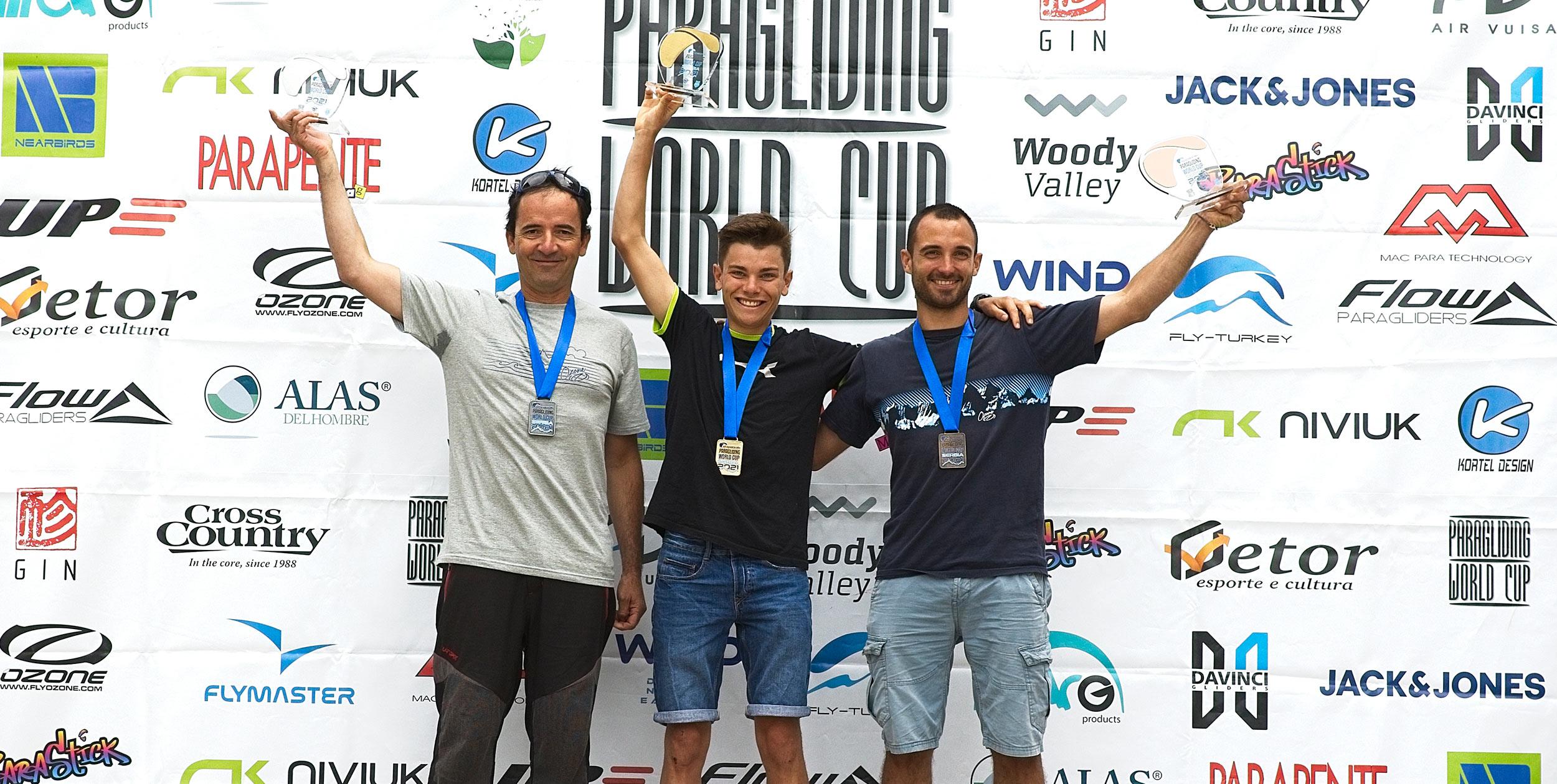 PWC 2021 Serbia men's podium