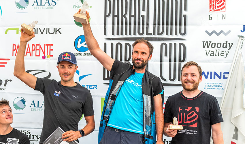 The overall podium at the 2020/21 Superfinal. Photo: Andy Busslinger