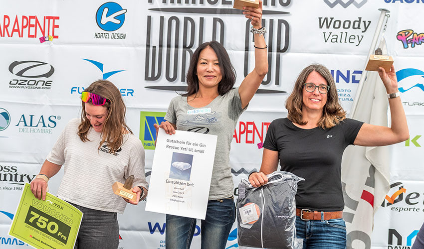 The Women's podium at the 2020/21 Superfinal. Photo: Andy Busslinger