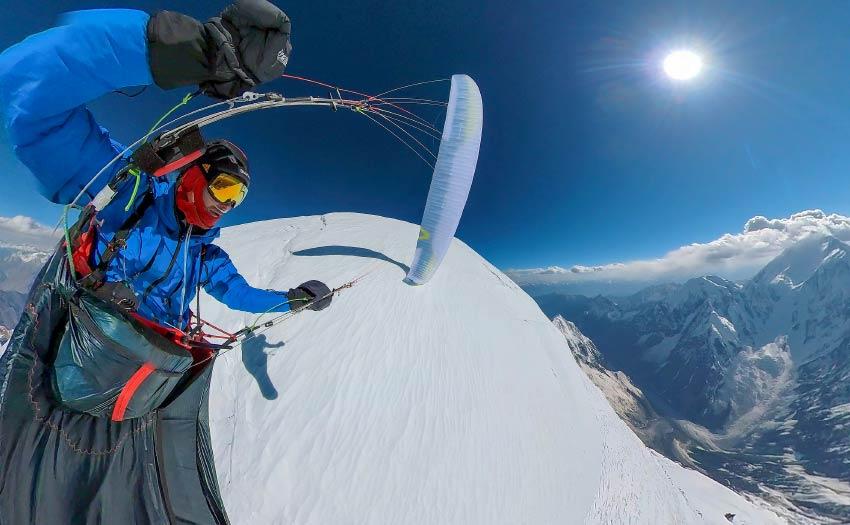 Francois Ragolski paragliding in the Karakoram, June 2021