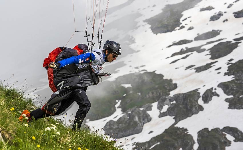 Theo de Blic during the Red Bull X-Alps 2021. Photo: Adi Geisegger