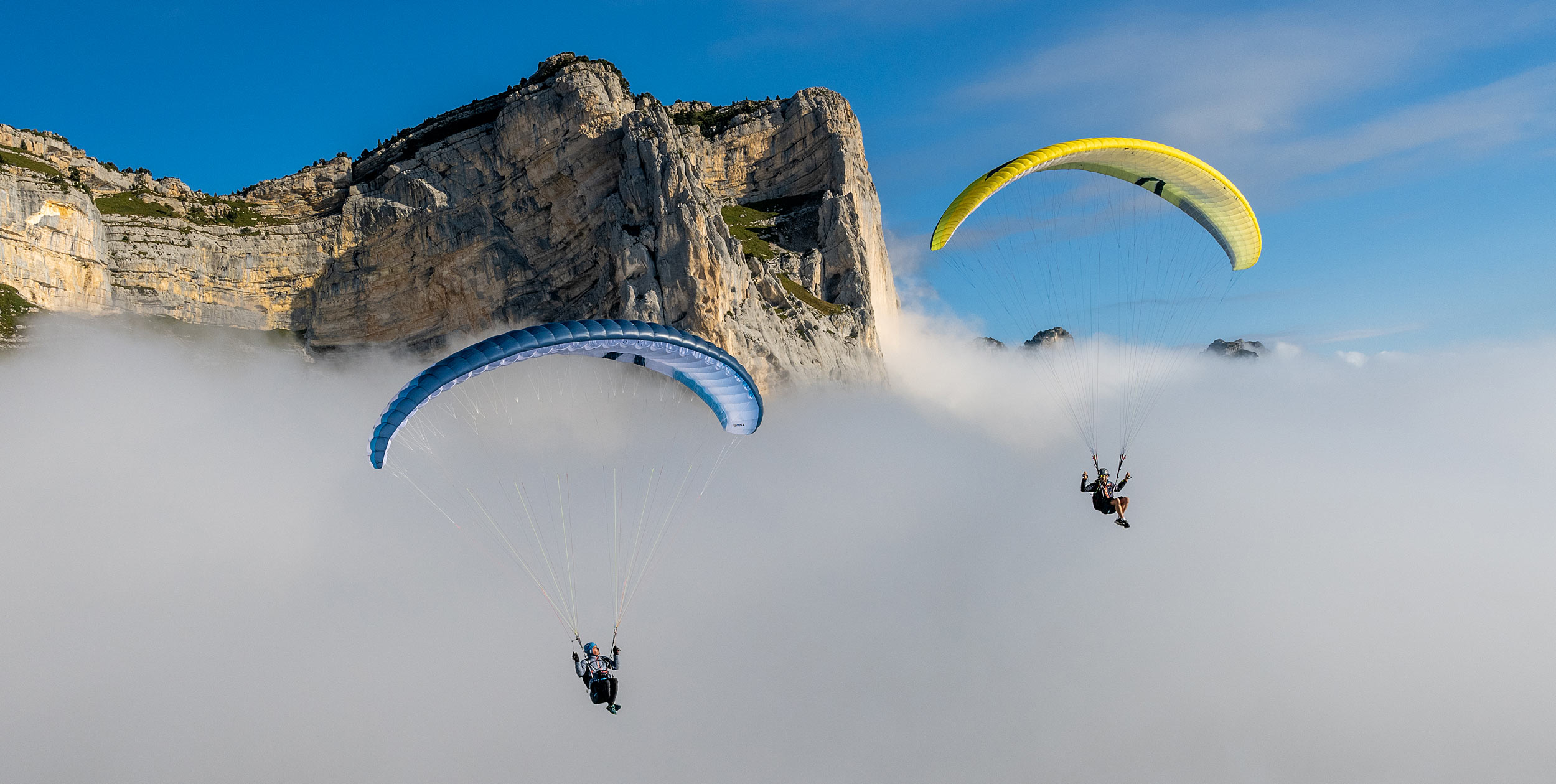 Soaring above the clouds at the 2021 Coupe Icare